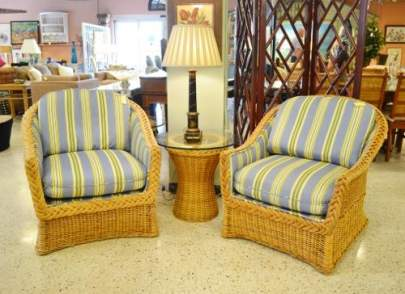 Woven custom upholstered chairs